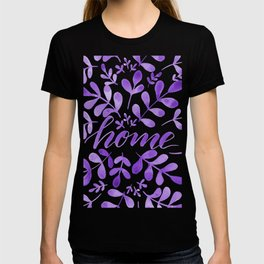 Watercolor home foliage - purple T-shirt