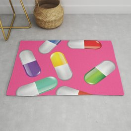 Valley of the Dolls Pink Pills Rug