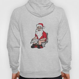 Santa in toilet Hoody