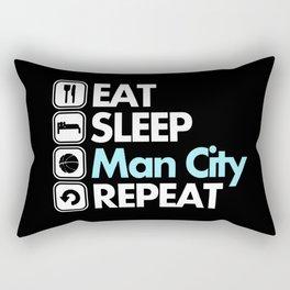 EAT SLEEP MAN CITY REPEAT Rectangular Pillow