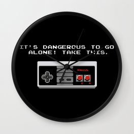 Its dangerous to go alone take this video game Wall Clock