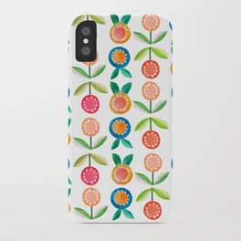 Water colour flowers iPhone Case