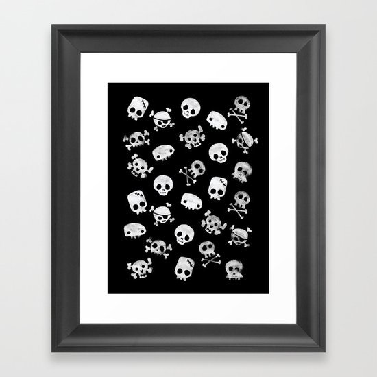 Cute Skull Framed Art Print