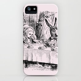 Blush pink - mad hatter's tea party iPhone Case