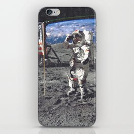 View of Earth From the Moon iPhone Skin