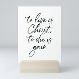 Christ Quote Mini Art Print