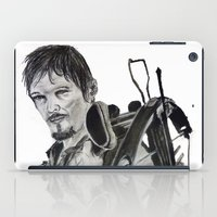 daryl dixon iPad Cases featuring Daryl Dixon by Brittany Ketcham