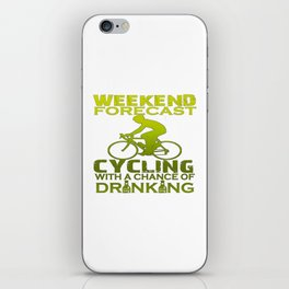 WEEKEND FORECAST CYCLING iPhone Skin