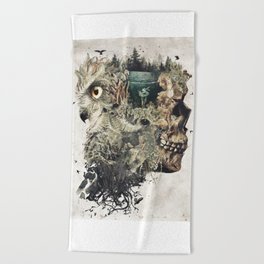 Forest Lake Dreams Beach Towel