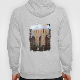 2 Feathered Showgirl Dancers On Point Hoody
