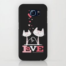 2 Cats in Love Slim Case Galaxy S8