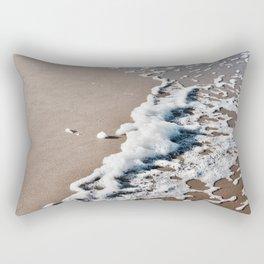 Foam on the beach on the Sunshine Coast Rectangular Pillow