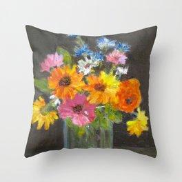 Fun flower arrangement Throw Pillow