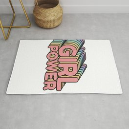 Girl Power grl pwr Retro Rug