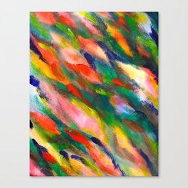 Swimming upstream abstract Canvas Print