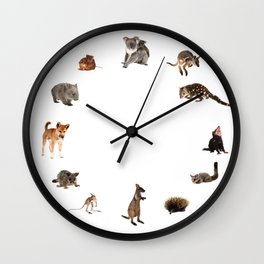 Tell the time with Australian wildlife Wall Clock
