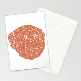 MONKEY SILHOUETTE HEAD WITH PATTERN Stationery Cards
