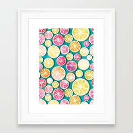 Citrus bath Framed Art Print