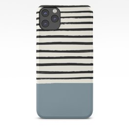 Dusty Blue x Stripes iPhone Case