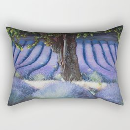 Lavender Field with Apple Tree Rectangular Pillow