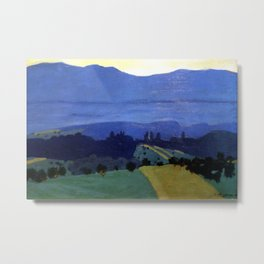 Felix Vallotton -  Landscape in the Jura Mountains (new color editing) Metal Print