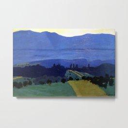 Felix Vallotton -  Landscape in the Jura Mountains (new color editing) Metal Print
