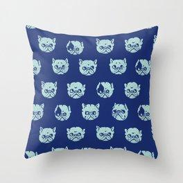 Polka Dot Frenchie Throw Pillow
