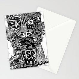 espresso overdose Stationery Cards