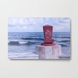 Winter Sea, Island of Women, Isla de Mujeres, Cancun, Mexico Metal Print