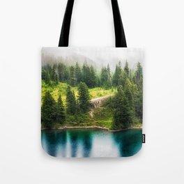 Alpine Lake, Eunice Lake, Mt. Rainier National Park Tote Bag