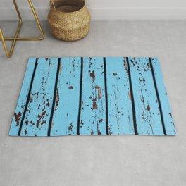 Blue Wooden Planks Rug