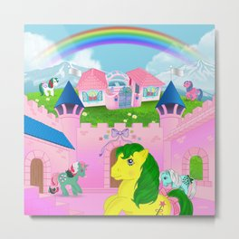 g1 my little pony dreamvalley Metal Print