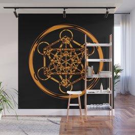 Metatron Cube Gold Wall Mural