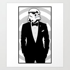 Slick Trooper Art Print