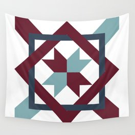 Intertwined Quilt Pattern Wall Tapestry