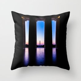 The View From Abe's Window Throw Pillow