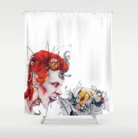 cocaine Shower Curtains featuring Splurge by Ashleigh Hungerford