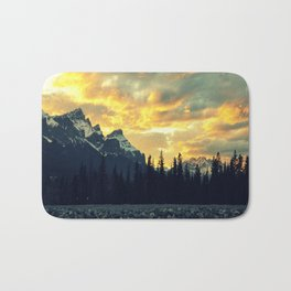 Sunset Over The Rockies Bath Mat