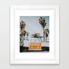 lets surf / venice beach, california Framed Art Print
