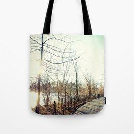 Along Kissena Lake, New York City Tote Bag