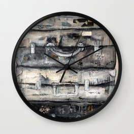 vieille valise Wall Clock