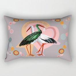 Love (GREFA) Rectangular Pillow