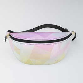 Abstract print of triangles, polygon in pastel colors Fanny Pack