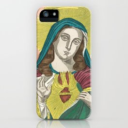 Immaculate Heart of Mary Vintage Print iPhone Case