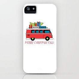 Merry Christmas Y'All For Holiday Christmas Greeting iPhone Case
