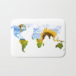 World of Sunflowers Bath Mat