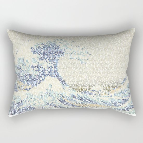 Riders On The Great Wave Rectangular Pillow