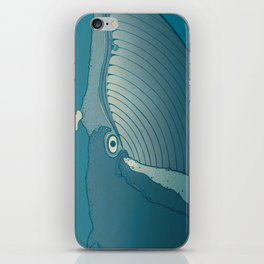 A whale ate her by mistake and spat her up in the sky iPhone Skin