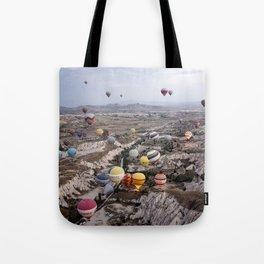 Air Ballons, Cappadocia, Turkey. Tote Bag