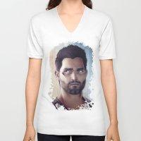 derek hale V-neck T-shirts featuring Teen Wolf - Derek Hale V2 by Caim Thomas